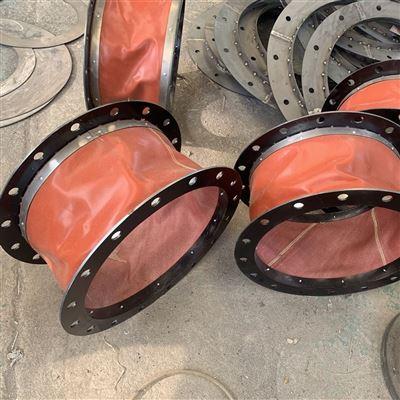 厂家定做法兰式硅胶布风口伸缩软连接