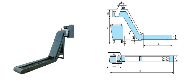 PL型平板链式排屑器1